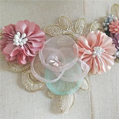Items similar to Beautiful flower lace applique for bridal hair accessory, wrist corsage, wedding garters, gown sash belts on Etsy Wedding Garters, Corsage Wedding, Ribbon Art, Silk Ribbon, Wrist Corsage, Wedding Hair Flowers, Polka Dot Fabric, Sash Belts, Bridal Hair Accessories
