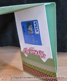 Stamp & Scrap with Frenchie: Gift Card Pull out with Envelope Punch Board Video