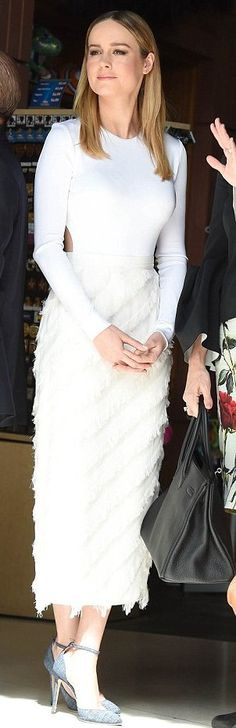 Brie Larson in Cushnie Et Ochs attends John Goodman's Hollywood star ceremony. #bestdressed
