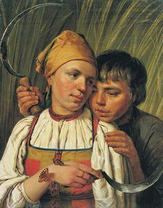 Жнецы. Вторая половина 1820-х. Венецианов Алексей Гаврилович (1780-1847)
