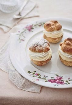 Cream puffs...a simple necessity when thinking of afternoon tea...