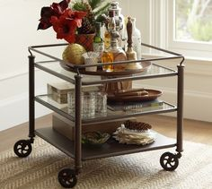 Tanner Nesting Side Tables Bronze Finish Tables Nest And Living - Pottery barn glass side table