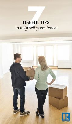 Selling a home is hard! It's a huge undertaking even in a good market. Use a Realtor® to navigate problems as they arise and get you the best deal possible. These seven useful tips to help sell your house will make this challenging process easier—and get Selling Home By Owner, Home Selling Tips, Selling Your House, Real Estate Tips, Selling Real Estate, Real Estate Investing, Sell Your House Fast, Moving Tips, Home Hacks