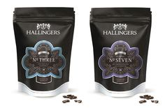 Hallingers Coffee / Packaging Design #packagingdesign #coffee #label #labeldesign #productrange