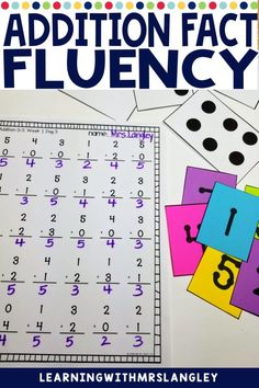 This math unit provides kindergarten, first grade, or even second grade students with addition practice using games, subitizing, flash cards for whole group instruction and practice pages. Add this to your 1st grade, 2nd grade, or even kindergarten curriculum as extra practice to master facts in a concrete and hands on way rather than just memorization. Classroom Freebies, Primary Classroom, Subitizing, Kindergarten Curriculum, Addition Facts, Hands On Activities, Math Lessons, Second Grade, Lesson Plans