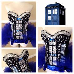 Call box Dr Who corset. I'm thinking of getting this for your party!