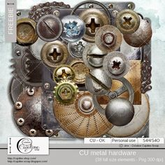 CAJOLINE-SCRAP: Freebie - CU metal hardware