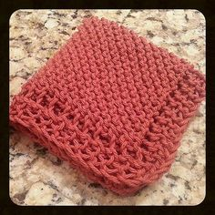 Grandmother's Favorite Neat-Edged Dishcloth Ravelry: Grandmother's Favorite Neat-Edged Dishcloth pattern by Gina Lynette Record of Knitting Wool spinning, weaving a. Knitted Washcloth Patterns, Knitted Washcloths, Dishcloth Knitting Patterns, Crochet Dishcloths, Knit Or Crochet, Crochet Patterns, Knitting Squares, Crochet Ideas, Beginner Knitting Patterns