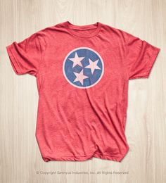 Tennessee Flag Shirt by Geenyus on Etsy