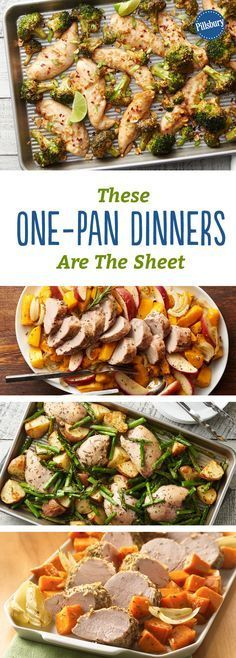 These One-Pan Dinner These One-Pan Dinners Are The Sheet: Weeknight dinner will be on the table in no time with these quick-prep recipes for the oven. Healthy Recipes, Cooking Recipes, Diet Recipes, Crohns Recipes, Recipes Dinner, Tofu Recipes, Mexican Recipes, Recipies, Pan Cooking