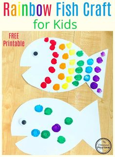 Rainbow Fish Craft f