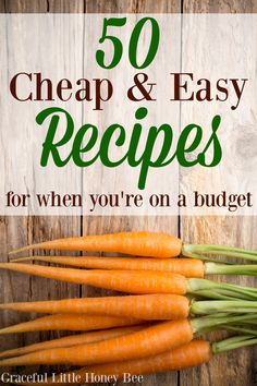 Check out this ultimate list of 50 cheap and easy recipes for when you're on a budget on gracefullittlehon. recipes easy recipes easy recipes easy recipes easy easy appetizers easy on a budget Cheap Easy Meals, Inexpensive Meals, Cheap Dinners, Frugal Meals, Budget Meals, Frugal Recipes, Easy Dinners, Cheap Food, Frugal Tips