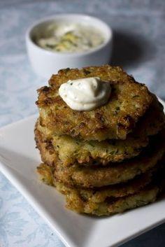 quinoa fritters w/ lemon-horseradish mayo