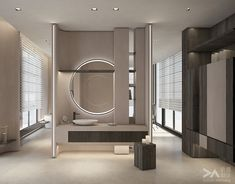 Interior design of residence in Taipei on Behance Luxury Homes Interior, Home Interior, Interior Architecture, Interior Design, Cheap Wall Decor, Cheap Home Decor, Vanity Design, Stair Decor, Elegant Homes