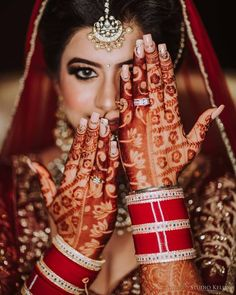 Glamorous Wedding Nail Art Designs For Indian Brides + Some Useful Tips! Indian Bride Photography Poses, Wedding Couple Poses Photography, Bridal Photography, Wedding Poses, Wedding Album, Wedding Photoshoot, Wedding Ideas, Indian Wedding Bride, Indian Wedding Planning