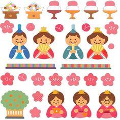 Beautiful Japanese Stickers Hina Matsuri Doll by FromJapanWithLove, $5.50