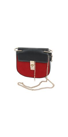 Made of quality faux leather, suedeNon-adjustable chain strap