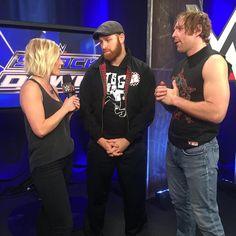 Dean Ambrose, Sami Zayn, Renee Young