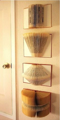 Folded book pages make incredible wall art!