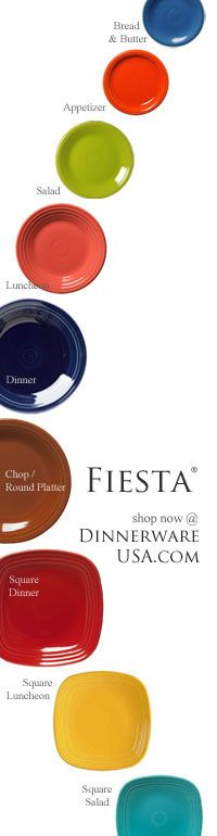 Fiesta plates come in a variety of shapes and sizes here is a simple list of current plates and the recently retired bread and butter plate. Find them here http://www.dinnerwareusa.com/shop/catalog/handler~event~browse~cat_id~90.htm #fiestaplates #fiestaware