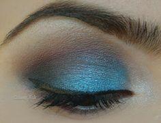 blue,purple and brown eye makeup