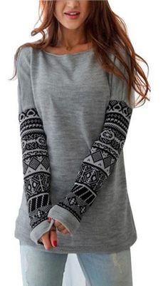 Casual Gray Sweatshirt