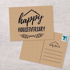 Real Estate Postcard Happy Houseiversary Anniversary Cards Set of Cards New Home.- Real Estate Postcard Happy Houseiversary Anniversary Cards Set of Cards New Home Handmade Cards Home Anniversary - Real Estate Gifts, Real Estate Career, Real Estate Business Cards, Real Estate Leads, Selling Real Estate, Real Estate Investing, Real Estate Marketing, Realtor Business Cards, Real Estate Advertising
