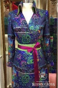 Printed Silk Wool with Cashmere and Thai Silk Long Sleeved Dress made at Roisin Cross Silks Dublin Day Dresses, Summer Dresses, Dress Making Patterns, Sleeved Dress, Silk Wool, Printed Silk, Ladies Day, Dressmaking, Dublin