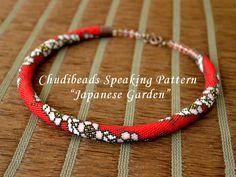 Japanese Garden - Chudibeads speaking PATTERN for bead crochet necklace.via Etsy.
