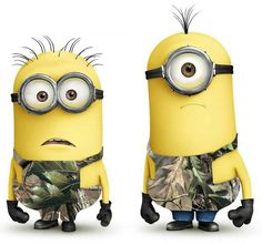 #famousfriends Despicable Me Minions      we tell my sister all the time that she is a minion, and she wears camo all the time!!    can't stop laughing!!!!
