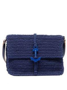 Balenciaga Crochet Anchor Shoulder Marine, $1,125, Balenciaga.com