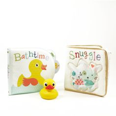 Rub-a-dub-dub, your happy tot's in the tub! The Little Learner Bath Time Set is not only a terrific introduction to reading, it's also a great way to get your tyke excited about their hygiene routine. Join Little Duck on his adventure in this soft, cuddly, cloth book, which also comes with a cute water-squirting toy that's great for interactive play during bath time.