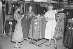 Teenage shopping, 1950s - simple dreams...