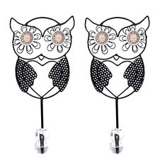 Set of 2 Owl Metal Wall Hook Children's Bedroom Decor *** Continue to the product at the image link.