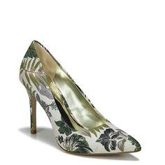 Carlos BY Carlos Santana Women's Posy 2 Pump Shoes (White Floral Fabric)