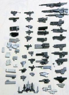 Load of different mecha guns.