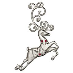 Waterford Silver 2013 Reindeer Ornament