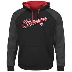 Men s Majestic Black Red Chicago Bulls Hardwood Classics Armor II Therma  Base Pullover Hoodie Red 01331fc4a