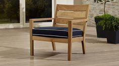 Regatta Lounge Chair with Sunbrella ® Cushion | Crate and Barrel