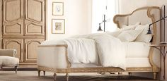 Josephine bed - Restoration Hardware. I'm in love with this bed. It looks so cozy.
