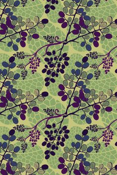 """""""Berry Bush"""" by pinkrubbersoul. To have a colourlovers pattern printed on fabric, go to http://www.colourlovers.com/store/fabric"""