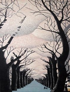 theriotstartshere:  the hall of silent sakuras.  Ray Morimura