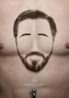 Print ad: The Art of Shaving: The Art of Shaving Grooming Campaign - Bearded Chest #print