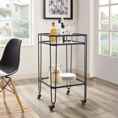 """Visit our internet site for more relevant information on """"gold bar cart styling"""". It is actually an outstanding spot to learn more. Bar Cart Styling, Bar Cart Decor, Unique Home Decor, Home Decor Items, Gold Bar Cart, Black Bar Cart, Glass Bar, Metal Tree Wall Art, Bar Furniture"""