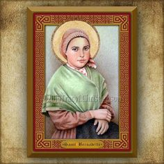 St. Bernadette Soubirous van Lourdes hout door PortraitsofSaints