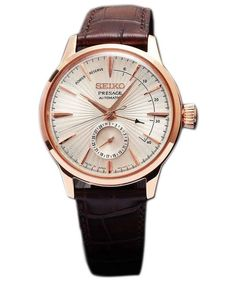 62ca30dca ... watches like Seiko Presage Automatic Japan Made Power Reserve Men's  Watch has Made In Japan, Rose Gold Tone Stainless Steel Case, Brown Leather  Strap, ...