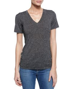 Classic Cotton V-Neck Tee at CUSP.