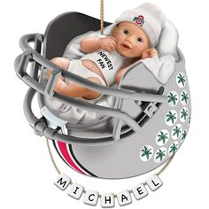 Ohio State Buckeyes Football Baby's First Ornament with Personalization Kit by The Bradford Exchange
