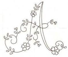 bordar letras a mano ile ilgili görsel sonucu Embroidery Alphabet, Embroidery Monogram, Cross Stitch Alphabet, Silk Ribbon Embroidery, Hand Embroidery Patterns, Diy Embroidery, Embroidery Needles, Machine Embroidery, Butterfly Embroidery
