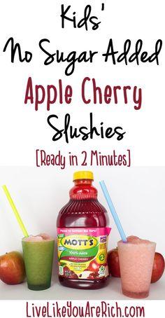 Make Easy Apple Cherry Slushies with NO SUGAR ADDED + $100 Walmart GC Giveaway @Motts #ad